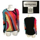 Rainbow Abstract Cashmere Sweater by Bloomingdales Womens Medium
