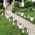 Holy Nativity Angel and Manger Scene Lawn Decorations Outdoor Religious Chri
