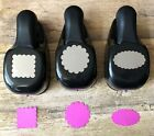 Stampin Up SCALLOP Punch LOT SQUARE OVAL and CIRCLE 3 Scalloped Punches