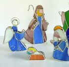 Piece Stained Glass Nativity Set Christmas Birth of Jesus Free Standing