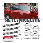 Door Handle Covers Chrome+Bowls For 2010 2011 2012 2013 2014 2017 Buick LaCrosse