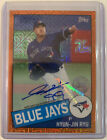 2020 Topps Update Chrome Hyun-Jin Ryu Auto #d 25 Silver Pack Blue Jays Sharp
