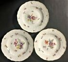 Three Original Meissen Hofservice Insects Bugs Plates