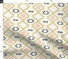 Navajo Native Tribal Triangles Aztec Gold Spoonflower Fabric by the Yard