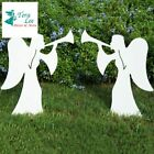 Teak Isle Christmas Outdoor 2 Piece Nativity Angel Set