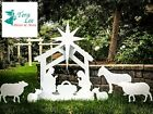 Note Card Cafe Large Outdoor Nativity Scene Yard Display Set  Front Lawn Sign C
