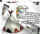 Indians Indian Native Wisdom Dreamcatcher Chief Spoonflower Fabric by the Yard