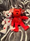 TY BEANIE BEARS**CHINOOK AND PIERRE**MINT CONDITION**FAST SHIPPING**