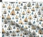 Woodland Arrows Camping Native Boho Native Spoonflower Fabric by the Yard
