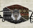Wolf Native American Face Mask ChristmasFace Mask Washable Reusable 3D