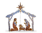 Christmas Nativity Scene Outdoor Lighted Clear Lights Yard Holiday Decor 55 Inch