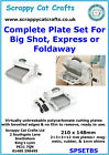 Complete A5 Plate Set for Sizzix Big Shot Express  Foldaway  SPSETBS 3