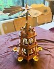Vintage 3 Tier Wooden Christmas Nativity Carousel Pyramid by Lillian Vernon