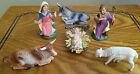 Vintage Depose Italy Nativity Set 7 Figure Holy Family Cow Donkey Spider Mark