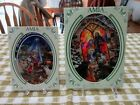 AMIA STUDIOS HAND PAINTED STAINED GLASS SUNCATCHERS 2 DIFFERENT