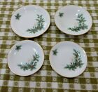 VTG SET OF 4 GERMANY TIRSCHENREUTH NOEL 3748 HOLLY PLATES  DISH MINT