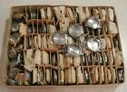 65 Vintage New Old Stock Mens Wristwatch Cases Chrome w Stainless Backs
