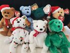 Vintage Ty Beanie Babies HOLIDAY TEDDY BEARS 1997-2003 Mint Christmas - Lot of 7