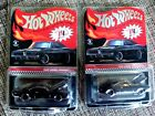HOT WHEELS 2020 RLC 1969 DODGE CHARGER R T SPECTRAFLAME BLACK LOT OF 2 NEW