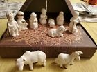 Vintage GOEBEL Mini Christmas Nativity Set w Original Box 10pc White W Germany