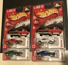HOT WHEELS LARRY WOOD HOLIDAY SET OF 4 CAMARO Real Riders Red White Green Blue