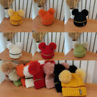 Woman Autumn Winter Wool Ball Wool Hat Knitted Hat Lovely Ear Protection Warmth