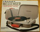 Crosley Messenger CR8016A 3 Speed Battery Powered Turntable Gray New in Box