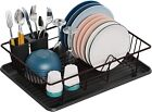 Dish Drying Rack Small Dish Rack with Tray Dish Drainer for Kitchen Countertop