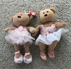 Lot of 2 Ty Beanie Ballerina Bear Prima and Pirouette ages 3 and Up Collector
