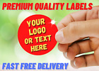 Personalised Stickers Labels Name Round Printed Logo Stickers Custom