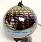 Stuart ABELMAN Iridescent Studio Art Glass Ornament  Artist Signed 1998