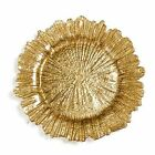 Quality Gold Leaf Glass Charger Plates Christmas home decor party weddings 33cm