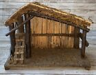 VINTAGE MADE ITALY WOOD NATIVITY SCENE MANGER CRECHE DEPOSE FONTANINI CHRISTMAS