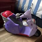 American Girl Doll Purple Scooter Motorcycle Moped Vehicle  Pink Helmet