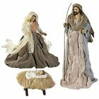 Large Holy Family Christmas Nativity Set 3 Pieces 175 Inch Tall Fabric  Res