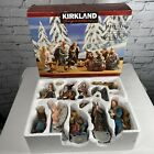 Kirkland Signature NATIVITY Set Hand Painted Gold and Jewel Accents 13 Pieces