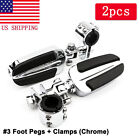 Highway Foot Pegs Clamp For Harley Davidson Street Road Glide King FLHX Touring