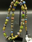 Old Ancient Antique Glass Beads Necklace