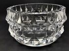 Stunning Hadeland Norway Multi Faceted Glass Bowl Signed Or434