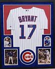 Kris Bryant Chicago Cubs Autograph Signed Custom Framed Jersey Licensed Majestic