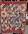 Antique 68 x 78 Ocean Wave Pattern Quilt Circa 1890 Professionally Appraised