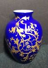 Victorian Gilded Cased Glass Vase with Thistles