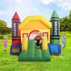 Inflatable Bounce Castle House Crayon Jumper Moonwalk Bouncer Without Blower