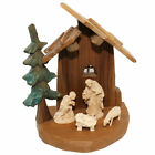 Heinzellerhaus Oberammergau Wood Carved Nativity Set