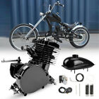 50cc 2 Stroke Cycle Motor Kit Motorized Bike Petrol Gas Bicycle Engine Set Black