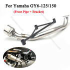 GY6 Motorcycle Exhaust System Mid Connection Link Pipe for Yamaha GY6 125 150cc