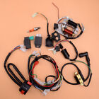 CDI Wire Harness Stator Wiring Spark Plug Solenoid Kit Fit for 50cc 125cc ATV