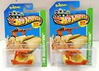 2013 HOT WHEELS THE FLINTSTONES FLINTMOBILE HW 70 BOTH CARD VARIATIONS VHTF