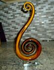 MURANO GLASS HAND BLOWN SWIRLED 13 AMBER COLORED ART GLASS SCULPTURE