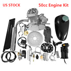 Full Set 50cc 2 Stroke High Power Engine Bike Motor Kit DIY Refit Parts US Stoc
